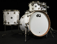 DW Collector's Series Maple Mahogany 5pc Kit White Crystal
