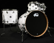 DW Collector's Series Pure Cherry 5pc Kit Twisted White Satin