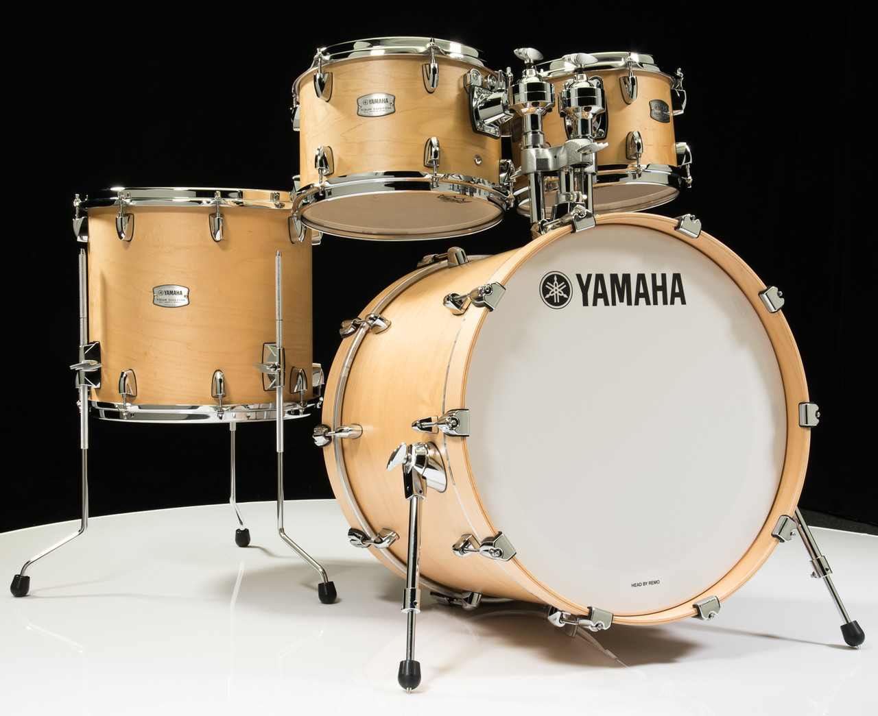 Yamaha Tour Custom 4pc Shell Pack 10/12/14/20- Butterscotch Satin - Front