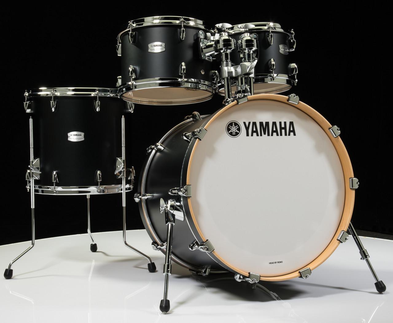 yamaha tour custom 4pc shell pack 10 12 14 20 licorice satin. Black Bedroom Furniture Sets. Home Design Ideas