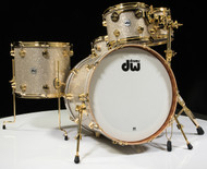 DW Collector's Series Maple Mahogany Drums 5pc Broken Glass with Gold
