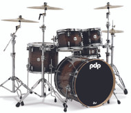 PDP Concept Exotic Series 5pc Shell Pack Walnut to Charcoal Burst