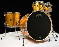 "DW Performance Series 4pc Shell Pack Gold Sparkle 24"" Kick Drum"