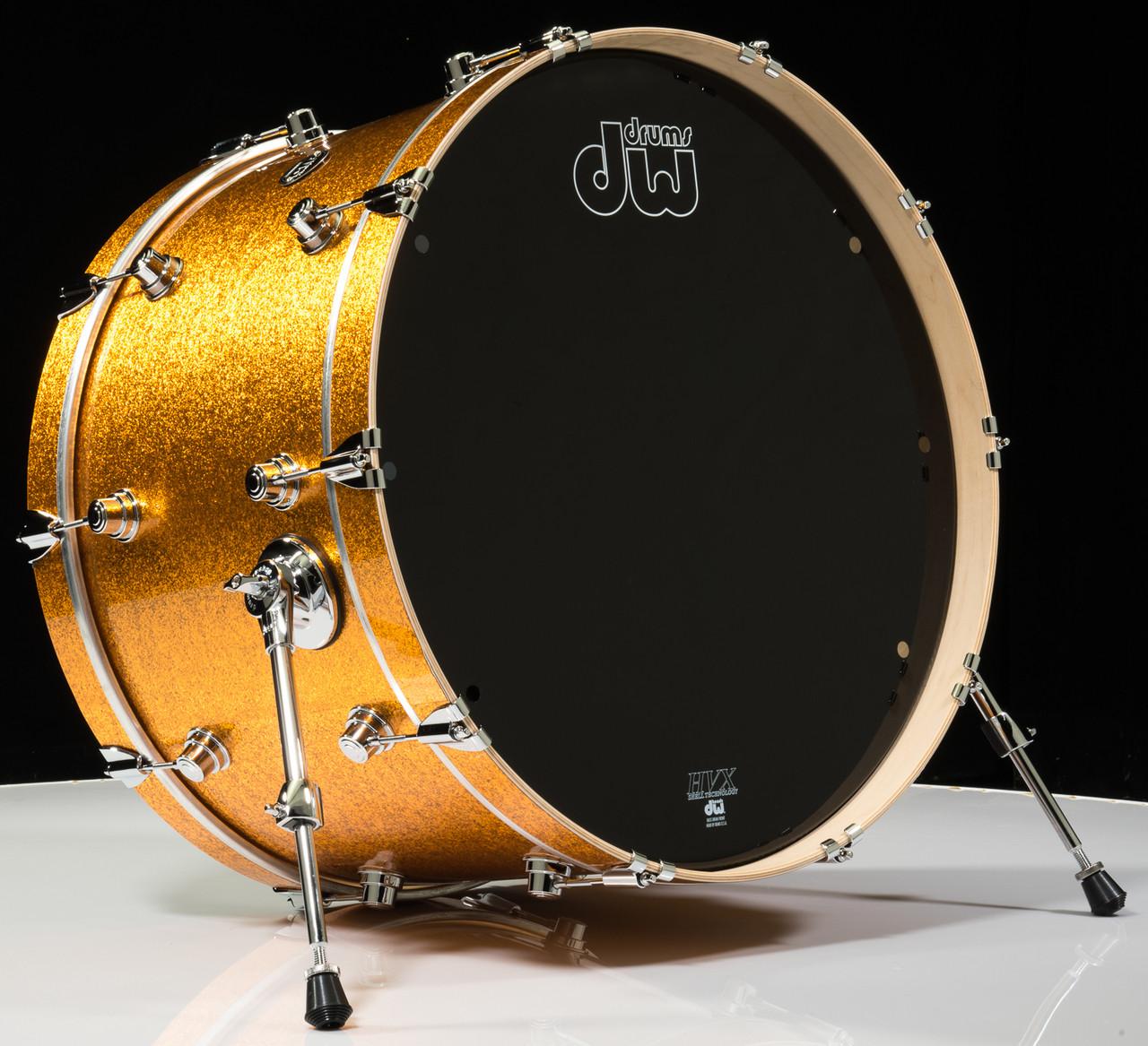 dw performance series 14x24 bass drum gold sparkle. Black Bedroom Furniture Sets. Home Design Ideas