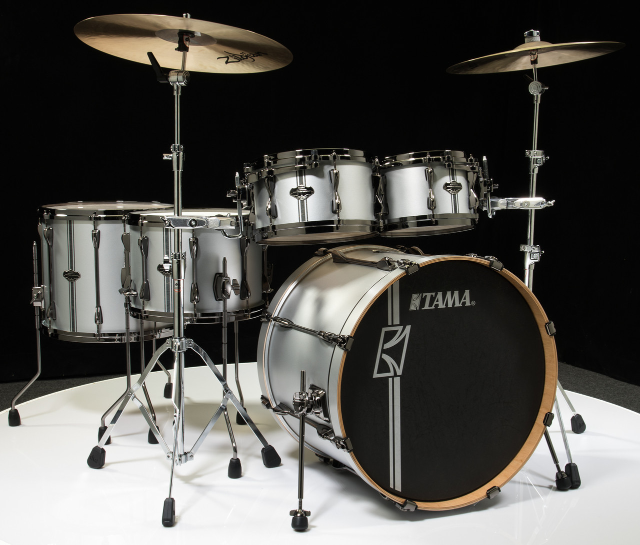Tama Drum Sets : tama superstar hyper drive duo 5pc drum set satin silver ~ Russianpoet.info Haus und Dekorationen