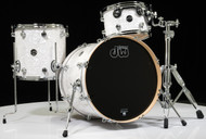 DW Performance Series 3pc Drum Kit White Marine 12/14/20 Shallow