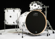 DW Performance Series 3pc Drum Kit White Marine 12/16/22 Shallow