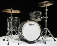 Ludwig Classic Maple Downbeat 3pc Shell Pack 12/14/20 - Vintage Black Oyster - Front