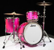 Ludwig Classic Maple FAB 3pc Shell Pack 13/16/22 - Pink Glitter - Front