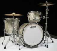 Ludwig Classic Maple FAB 3pc Shell Pack 13/16/22 - Olive Pearl - Front
