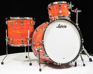 Ludwig Classic Maple PRO Beat 3pc Shell Pack 13/16/24 - Mod Orange - Front