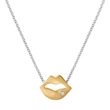 This necklace is hot,sexy & cute all rolled into one.We like the chain 15 inches so you can layer it with other necklaces. Its even better with a little diamond on the bottom lip.