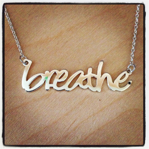 just breathe necklace