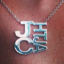 Sterling Silver Large Modern Family Monogram