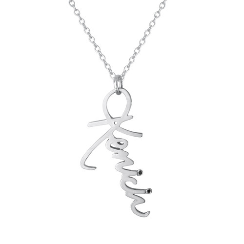 Sterling Silver Signature Charm with Black Diamond