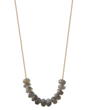 Stoned Chain Necklace