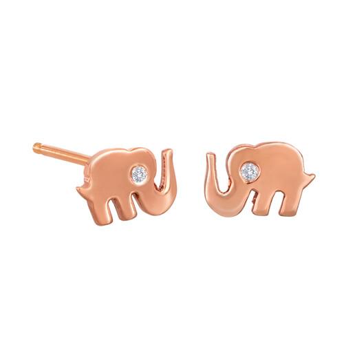 Tiny Elephant Stud Earrings