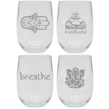 Modern Mantra Unbreakable Stemless Wine Tumblers