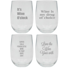 Say it with Wine Unbreakable Stemless Wine Tumblers