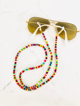 Rainbow Turquoise Beaded Eyeglass Chain