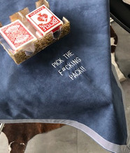 Card Table Cover with Saying