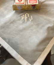 CARD TABLE COVER MONOGRAM