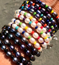 Pearl & turquoise Beaded Mask/Eyeglass Chain