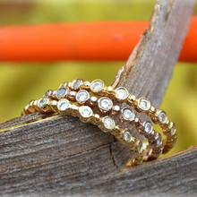 Caviar Bead Diamond Stacking Bands