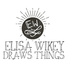 Elisa Wikey artist page at the Bumperactive store!
