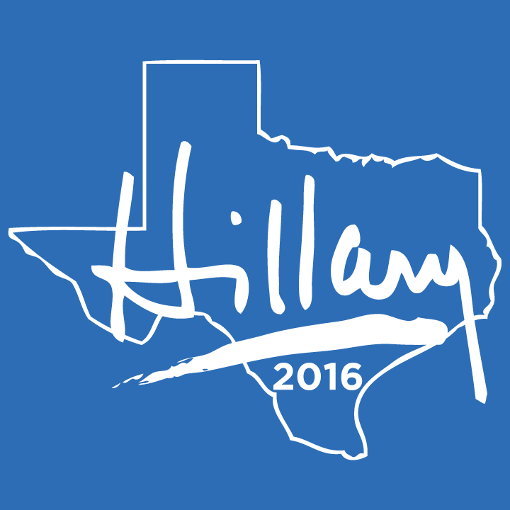 Texas For Hillary at the  Bumperactive store!
