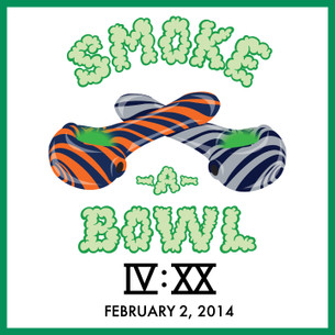 "SMOKE-A-BOWL IVXX ""Dueling Pipes"" Tee -- Benefitting NORML"