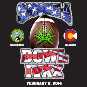"SMOKE-A-BOWL IVXX ""Football"" Tee -- Benefitting NORML"