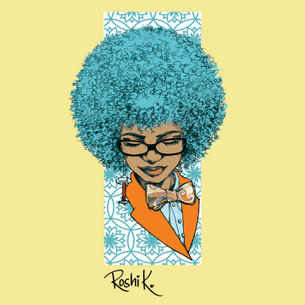 """Tesla"" from the blue-haired girl series by Roshi K."
