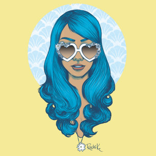 """Daisy"" from the blue-haired girl series by Roshi K."