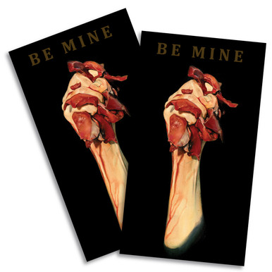 """Be Mine"" by Travis Jarrell. Pack of two Stickers."