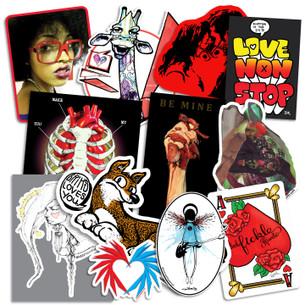Bumperactive Valentine Series Sticker Pack!
