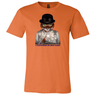 """A Clockwork Orange Tabby"" on Orange, Unisex Tee."