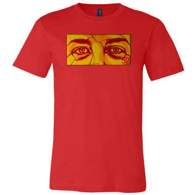 """""""Red Mask"""" on Red Unisex Tee."""
