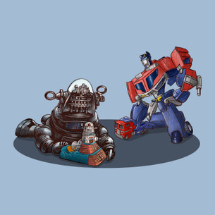 """Robbie and Optimus"" by Chet Phillips."