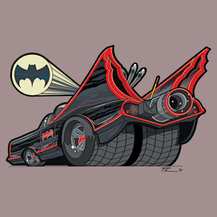 """Batmobile 1966"" by Phil's Garage Illustration."