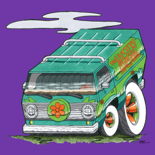 """The Mystery Machine"" by Phil's Garage Illustration."
