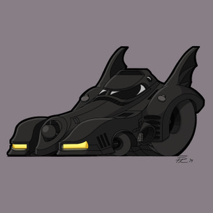 """Batmobile 1989"" by Phil's Garage Illustration."