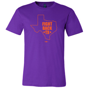 """Fight Back Texas"" for prochoicetexas.org (Purple Tee)"