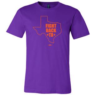 """Fight Back Texas"" for prochoicetexas.org (Purple Tee)"