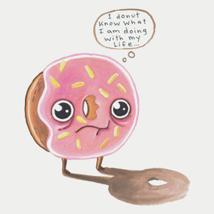 """Donut"" -- By Elisa Wikey (on White Tee)"