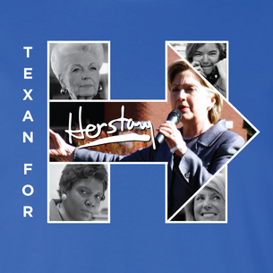 """Texans For Herstory"" Graphic (on Royal Blue Tee) front and back!"