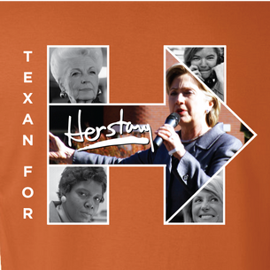 """Texans For Herstory"" Graphic (on Burnt Orange Tee) front and back!"