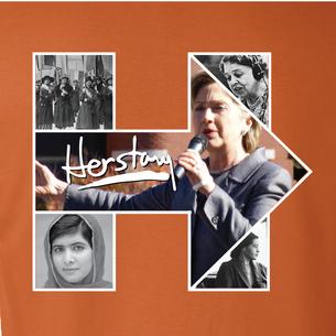 """Women of Herstory"" Graphic (on Burnt Orange Tee)"