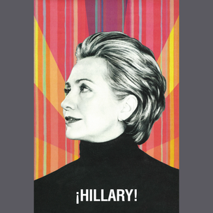 """La Hillary - ¡Hillary!"" Graphic (on Dark Heather Tee)"