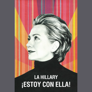 """La Hillary - ¡Estoy Con Ella!"" Graphic (on Dark Heather Tee)"